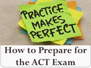 How to Prepare for the ACT Exam