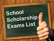 school scholarship exam list