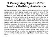 Tips for Caregivers on Giving Bath to Senior