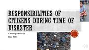 Responsibilities of citizens during disaster