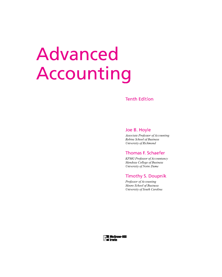 Advanced accounting 10e hoyle schaefer doupnik authorstream advanced accounting 10e hoyle schaefer doupnik fandeluxe Image collections