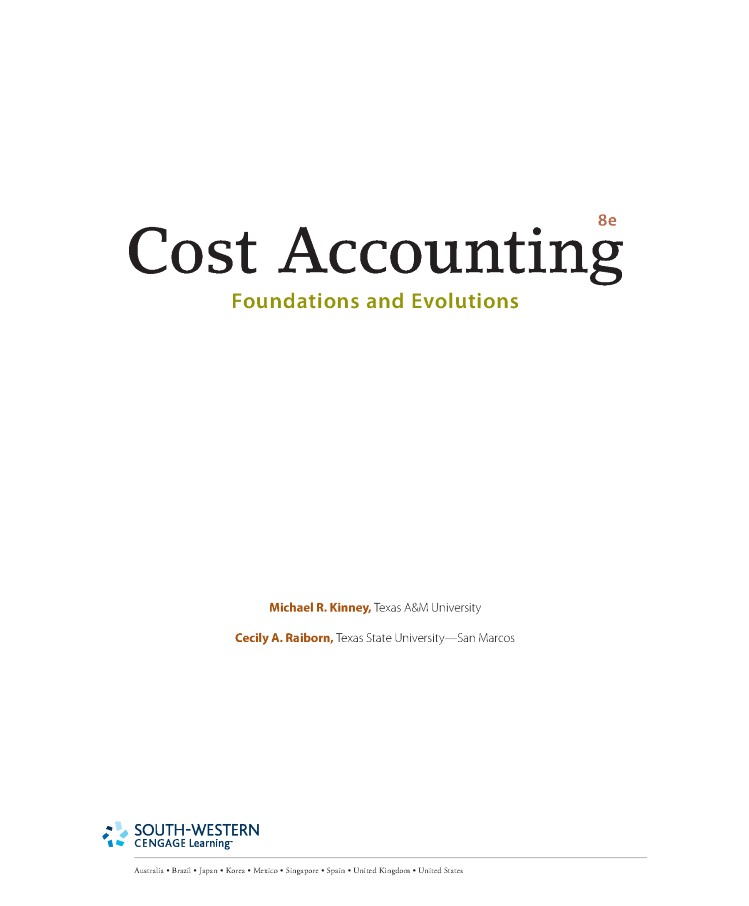 Cost accounting foundations and evolutions 8e by ralborn authorstream cost accounting foundations and evolutions 8e by ralborn fandeluxe Gallery