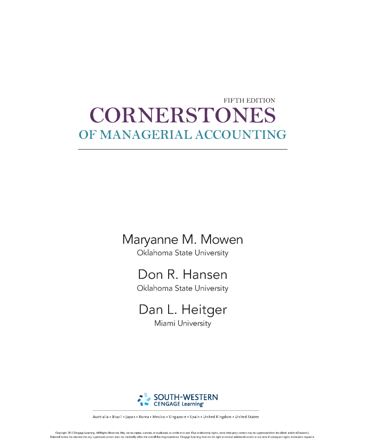 Cornerstones of managerial accounting 5th moven authorstream cornerstones of managerial accounting 5th moven fandeluxe Images