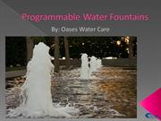 Programmable Water Fountains