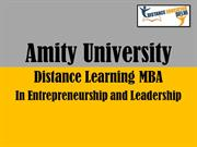 Amity Distance MBA in Entrepreneurship and Leadership