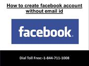 How to create facebook account without email address?