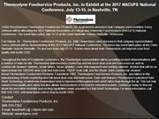 Thermodyne Foodservice Products, Inc. to Exhibit at the 2017 NACUFS