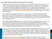 Benefits of Digital Marketing Apprenticeship