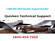 1-844-454-7202 Quicken Technical Support Phone Number