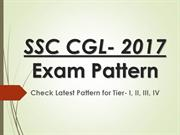SSC CGL 2017 Exam Pattern