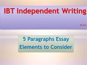 IBT Independent Writing in 30 min