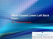 What Causes Lower Left Back Pain?