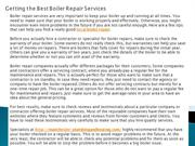 Getting the Best Boiler Repair Services