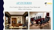 Decorate Your Home and Office with Modular Furniture – AP Interio