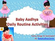 Baby Aadhya Daily Routine Activities