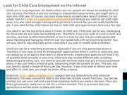 Look for Child Care Employment on the Internet