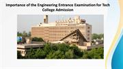 Importance of Entrance Exam to Take Admission in Tech College