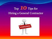 Top 10 Tips for Hiring a General Contractor Florida