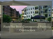 Find Commercial Painting Contractors