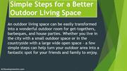 Simple Steps for a Better Outdoor Living Space