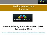 Enteral Feeding Formulas Market Global Forecast to 2020