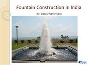 Fountain Construction in India