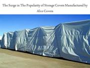 Storage Covers manufactured by Alco Covers