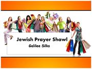 Buy best Jewish prayer shawl for women at Galileesilks