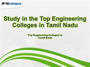 Study in the Top Engineering Colleges in Tamil Nadu