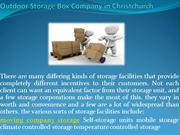Outdoor Storage Box Company in Christchurch