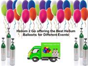 Helium 2 Go offering the Best Helium Balloons for Different Events