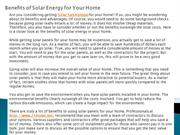 Benefits of Solar Energy for Your Home