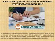 Apply These 9 Secret Techniques to Improve Statistics Assignment Help