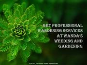 Get Professional Gardening Services at Wanda's Weeding and Gardening.
