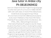 Java tutor in Ardee City Ph 08181969432