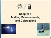 Matter, Measurements, and Calculations