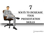 7 ways to increase your presentation skills