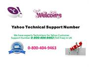 Yahoo Technical Support Number UK 0-800-404-9463 For instant Solution