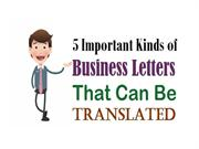 5 Important Kinds of Business Letters That Can Be Translated