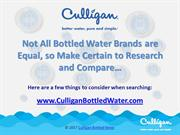 What to Look for in Bottled Water