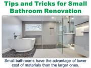 Tips and Tricks for Small Bathroom Renovation