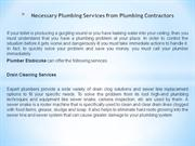 Necessary Plumbing Services from Plumbing Contractors