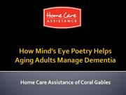 How Mind's Eye Poetry Helps Aging Adults Manage Dementia