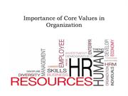 Importance of Core Values in Organization - Jack Nasher