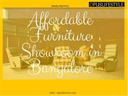 Affordable Furniture Showroom in Bangalore