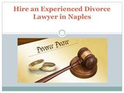 Hire an Experienced Divorce Lawyer in Naples