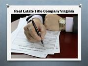Real Estate Title Company Virginia