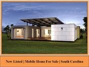 New Listed | Mobile Home For Sale | South Carolina
