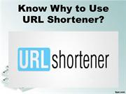 Know Why to Use URL Shortener