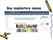 sell maple story mesos